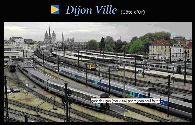 Photo de la Gare de DIJON, souvenir, souvenir...